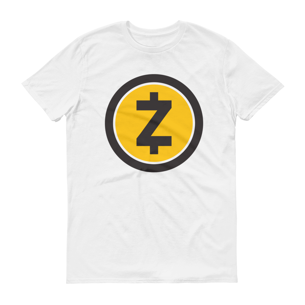 Zcash Short-Sleeve T-Shirt White S - zeroconfs