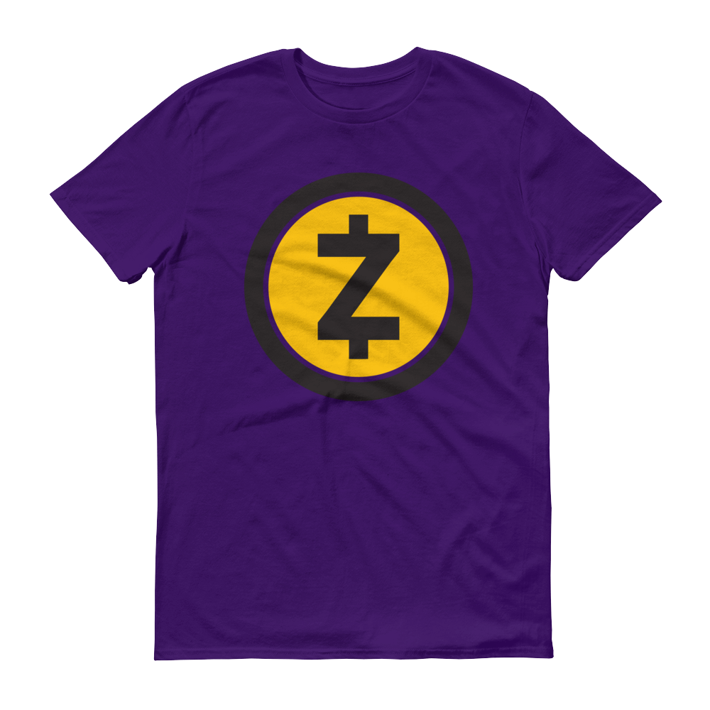 Zcash Short-Sleeve T-Shirt Purple S - zeroconfs