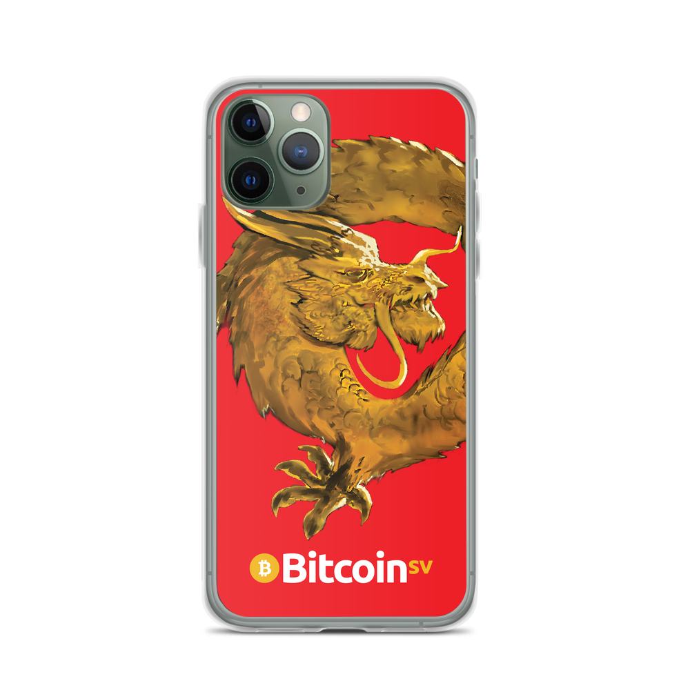 Bitcoin SV Woken Dragon iPhone Case Red iPhone 11 Pro  - zeroconfs