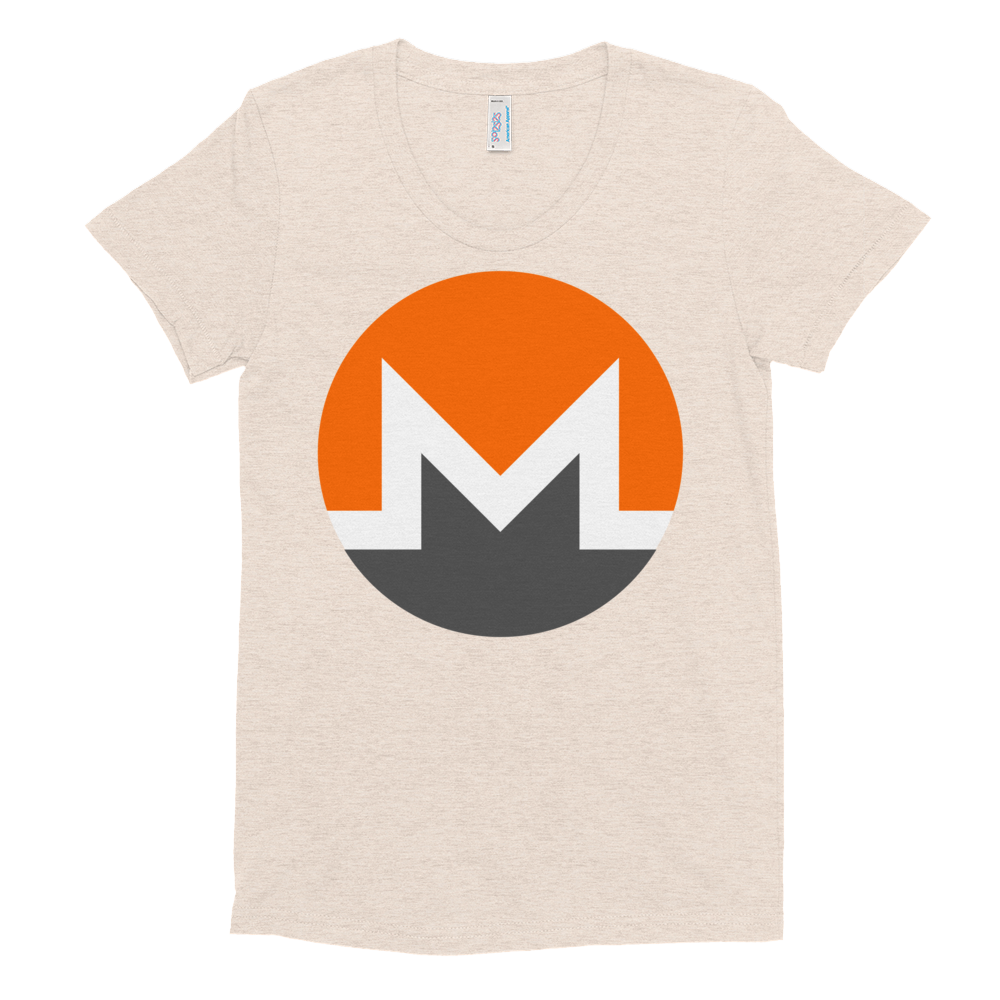 Monero Women's Crew Neck T-Shirt Tri-Oatmeal S - zeroconfs