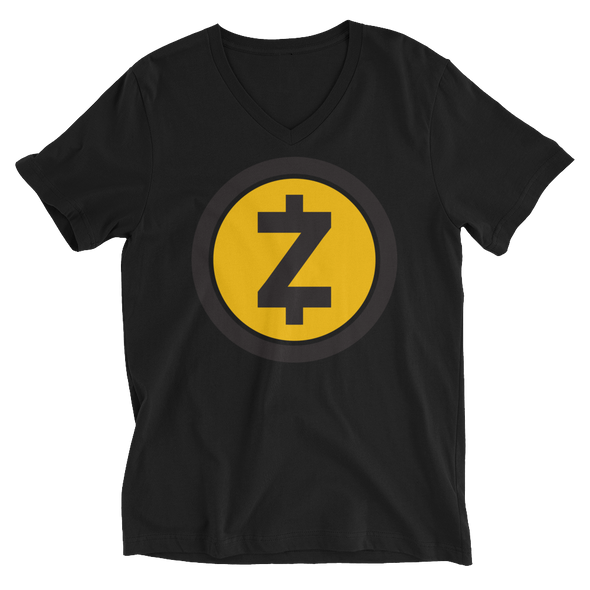 Zcash V-Neck T-Shirt Black XS - zeroconfs