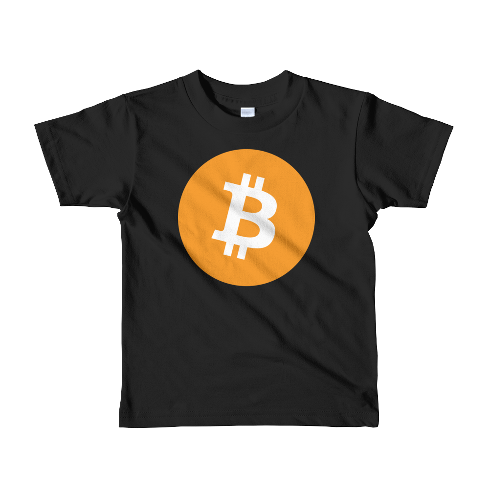 Bitcoin Core Short Sleeve Kids T-Shirt Black 2yrs - zeroconfs