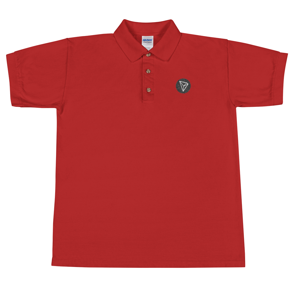 Tron Embroidered Polo Shirt Red S - zeroconfs