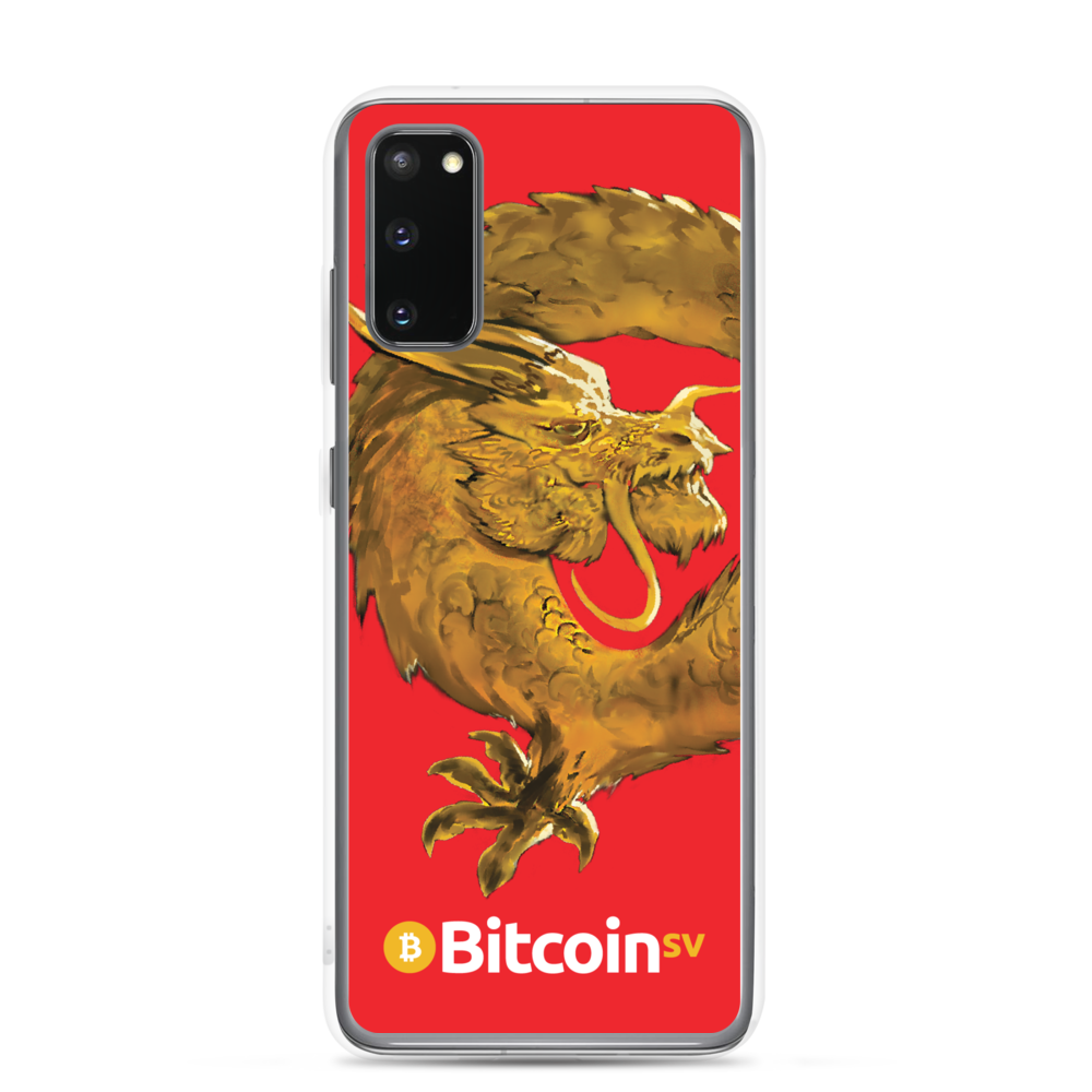 Bitcoin SV Woken Dragon Samsung Case Red Samsung Galaxy S20  - zeroconfs