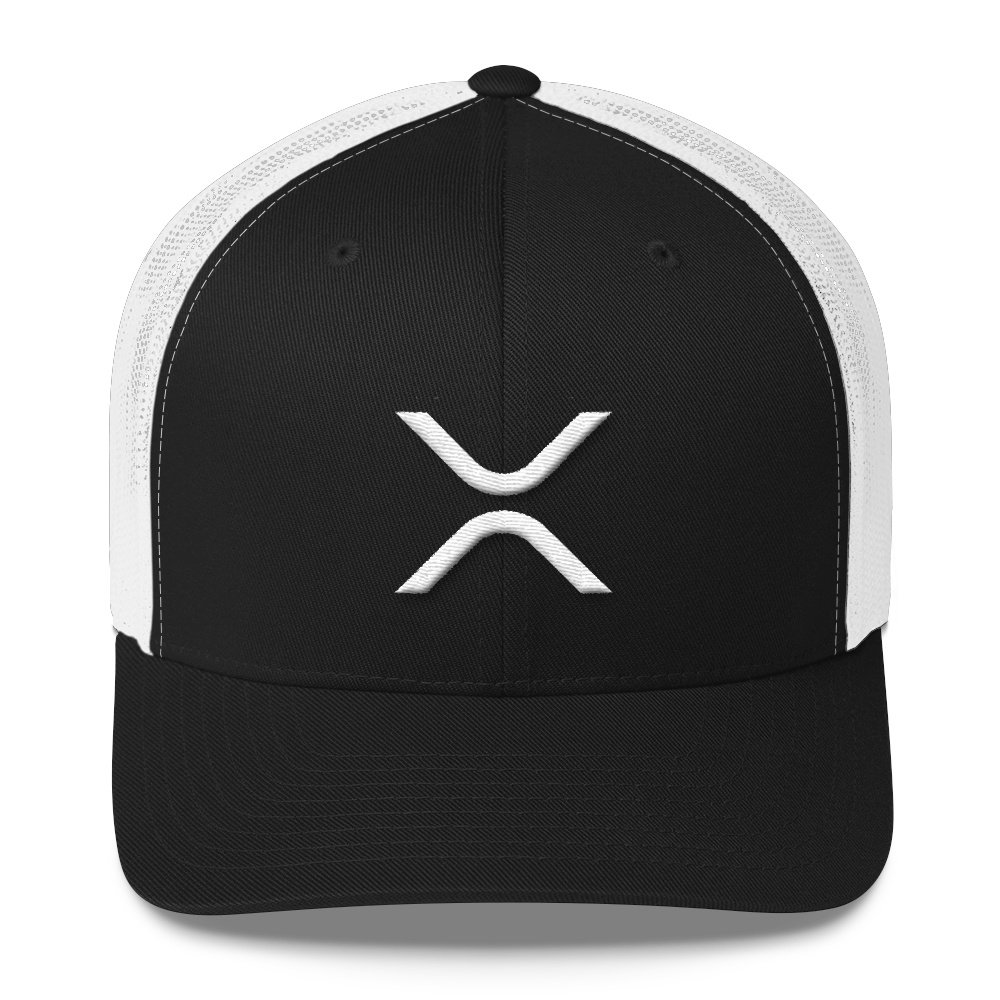 Ripple Trucker Cap Black/ White  - zeroconfs