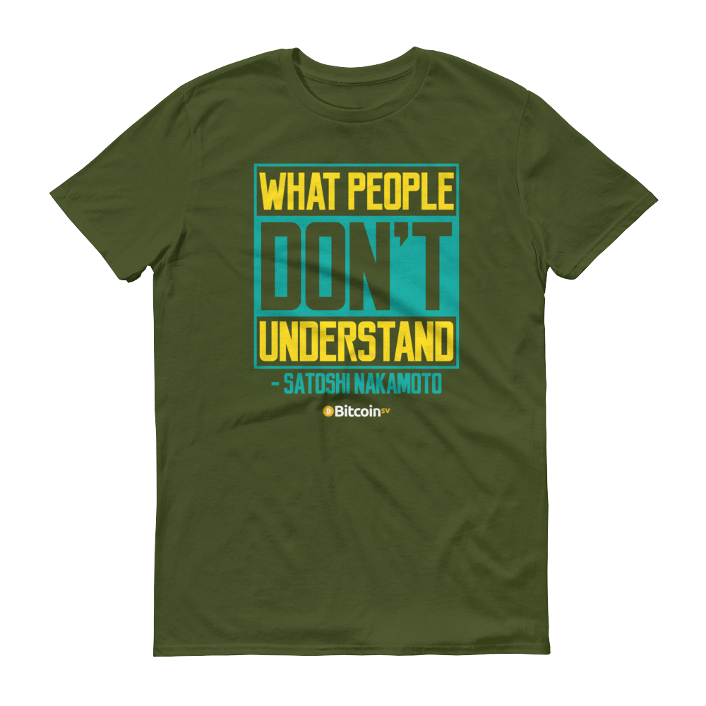 Understand Bitcoin SV Short-Sleeve T-Shirt City Green S - zeroconfs