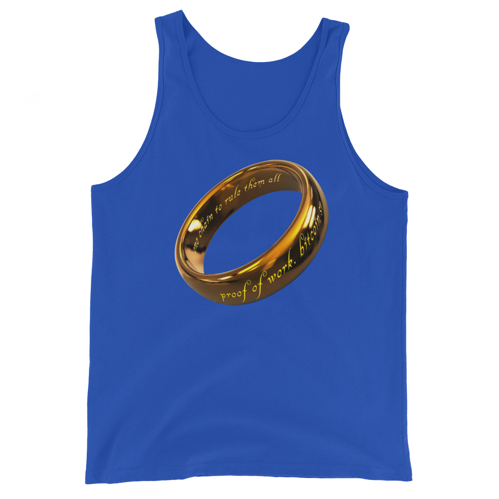One Chain To Rule Them All Bitcoin SV Tank Top True Royal XS - zeroconfs