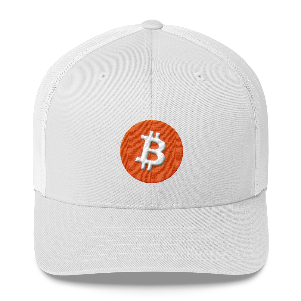 Bitcoin Core Trucker Cap White  - zeroconfs