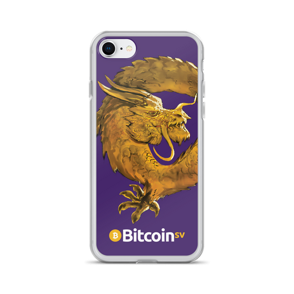 Bitcoin SV Woken Dragon iPhone Case Purple iPhone 7/8  - zeroconfs