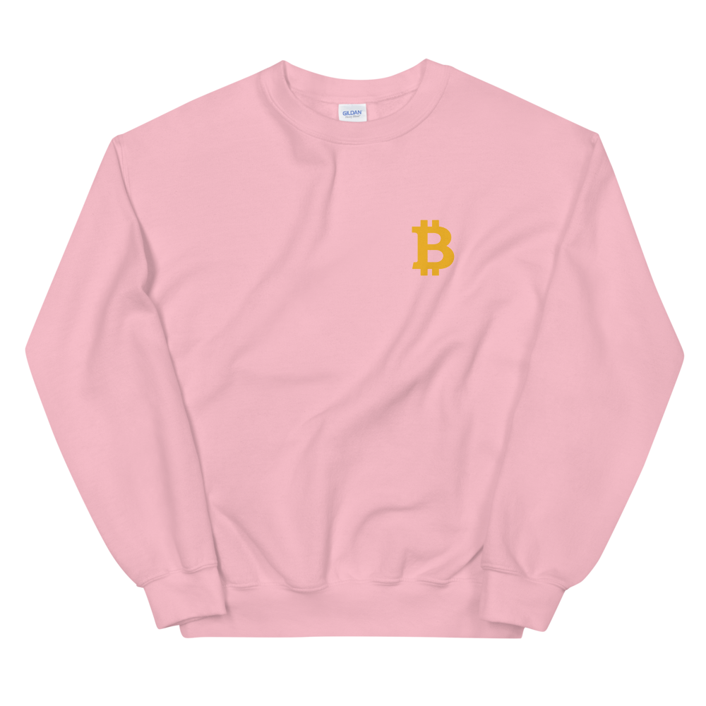 Bitcoin Small B Women's Sweatshirt Light Pink S - zeroconfs