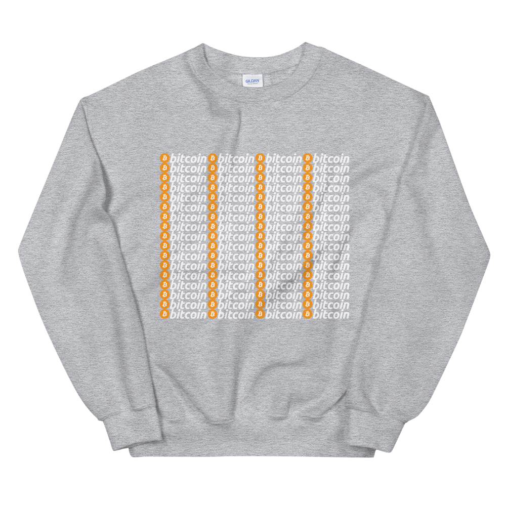 Bitcoins Sweatshirt Sport Grey S - zeroconfs