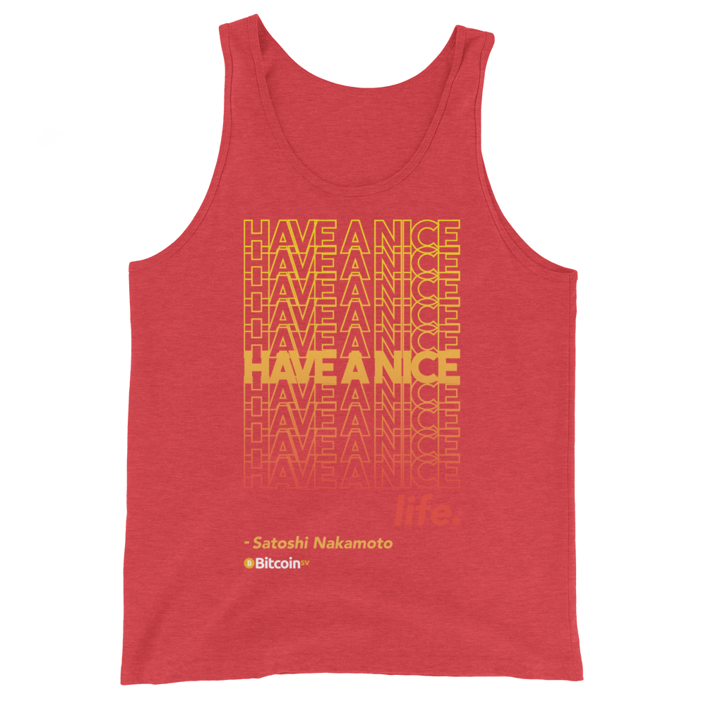 Have A Nice Life Bitcoin SV Tank Top Red Triblend XS - zeroconfs