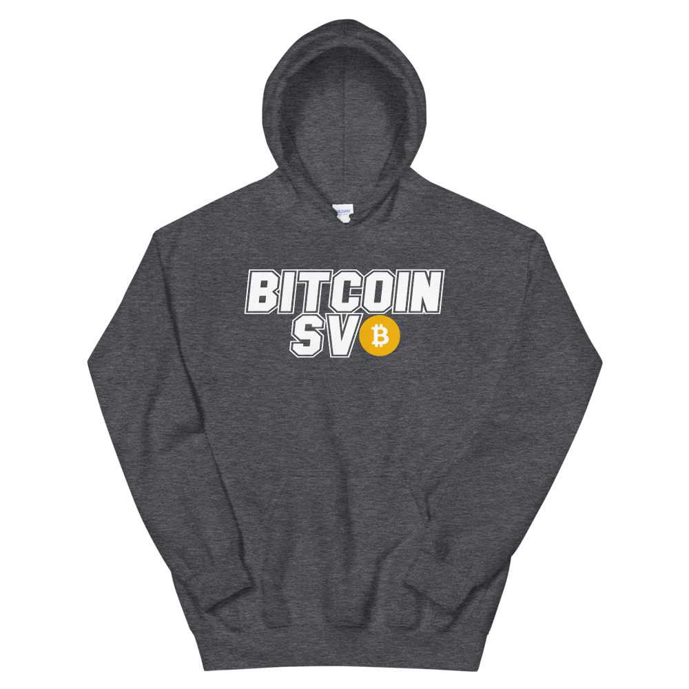 Bitcoin SV Sports Hooded Sweatshirt Dark Heather S - zeroconfs