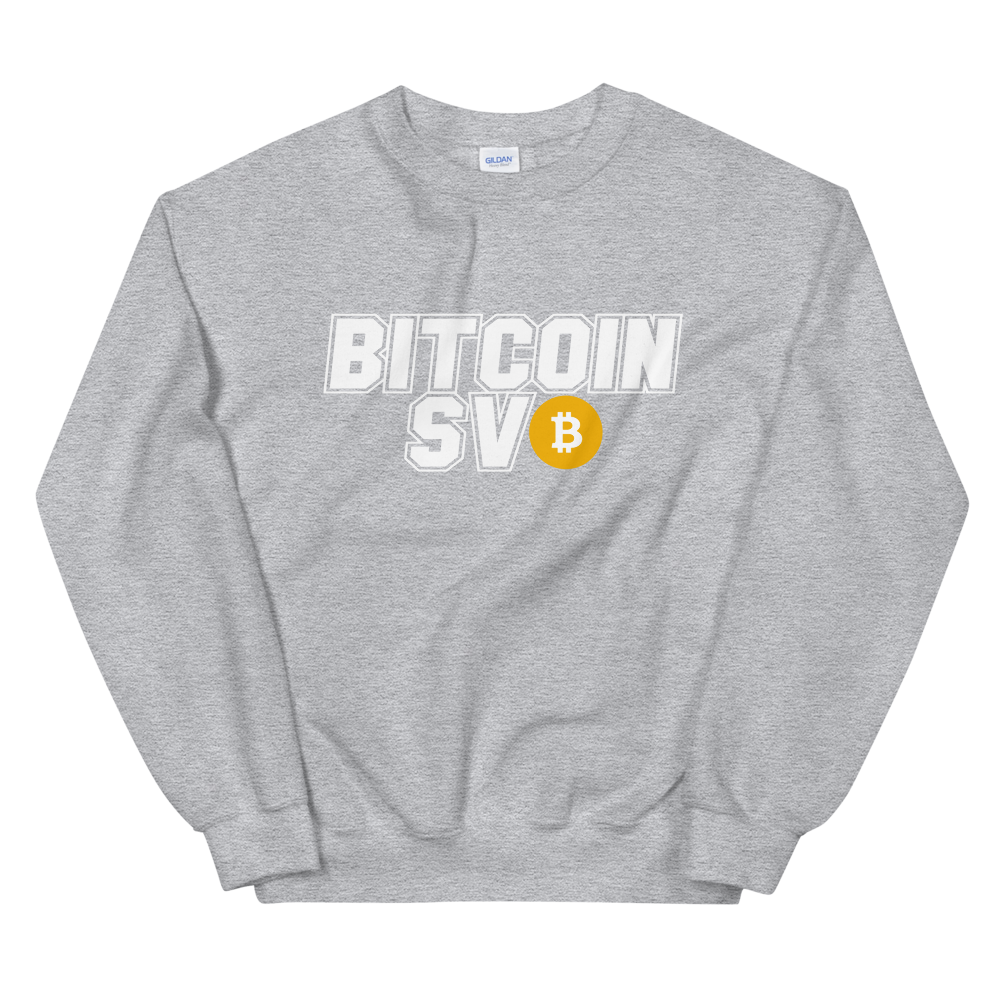 Bitcoin SV Sports Sweatshirt Sport Grey S - zeroconfs