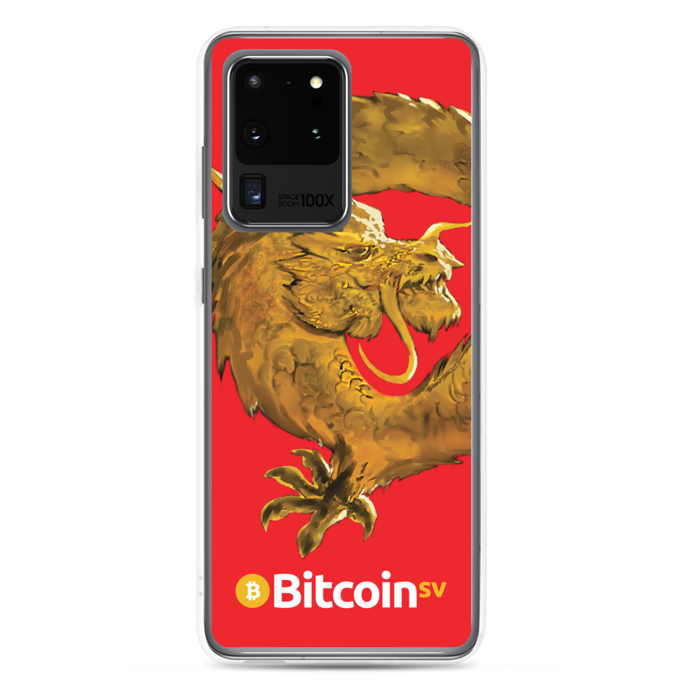 Bitcoin SV Woken Dragon Samsung Case Red Samsung Galaxy S20 Ultra  - zeroconfs