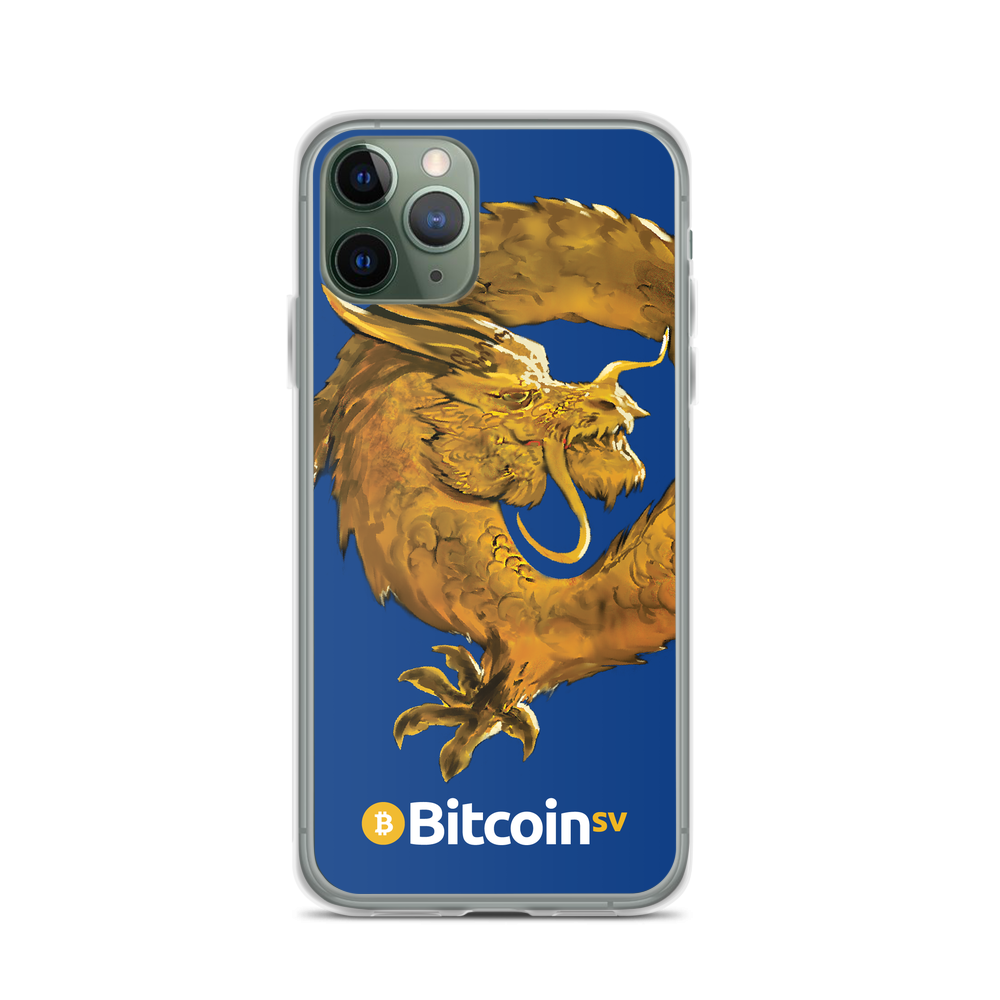 Bitcoin SV Woken Dragon iPhone Case Navy iPhone 11 Pro  - zeroconfs