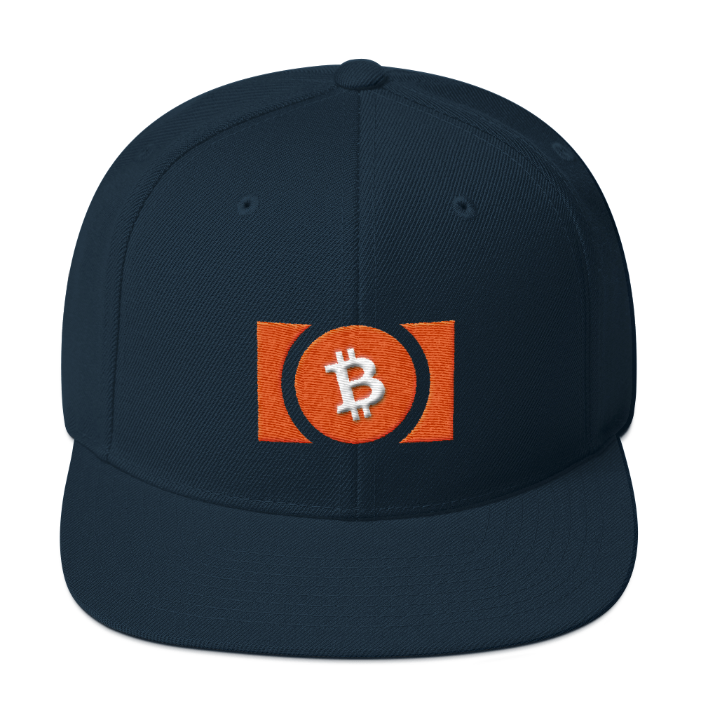 Bitcoin Cash Snapback Hat Dark Navy  - zeroconfs