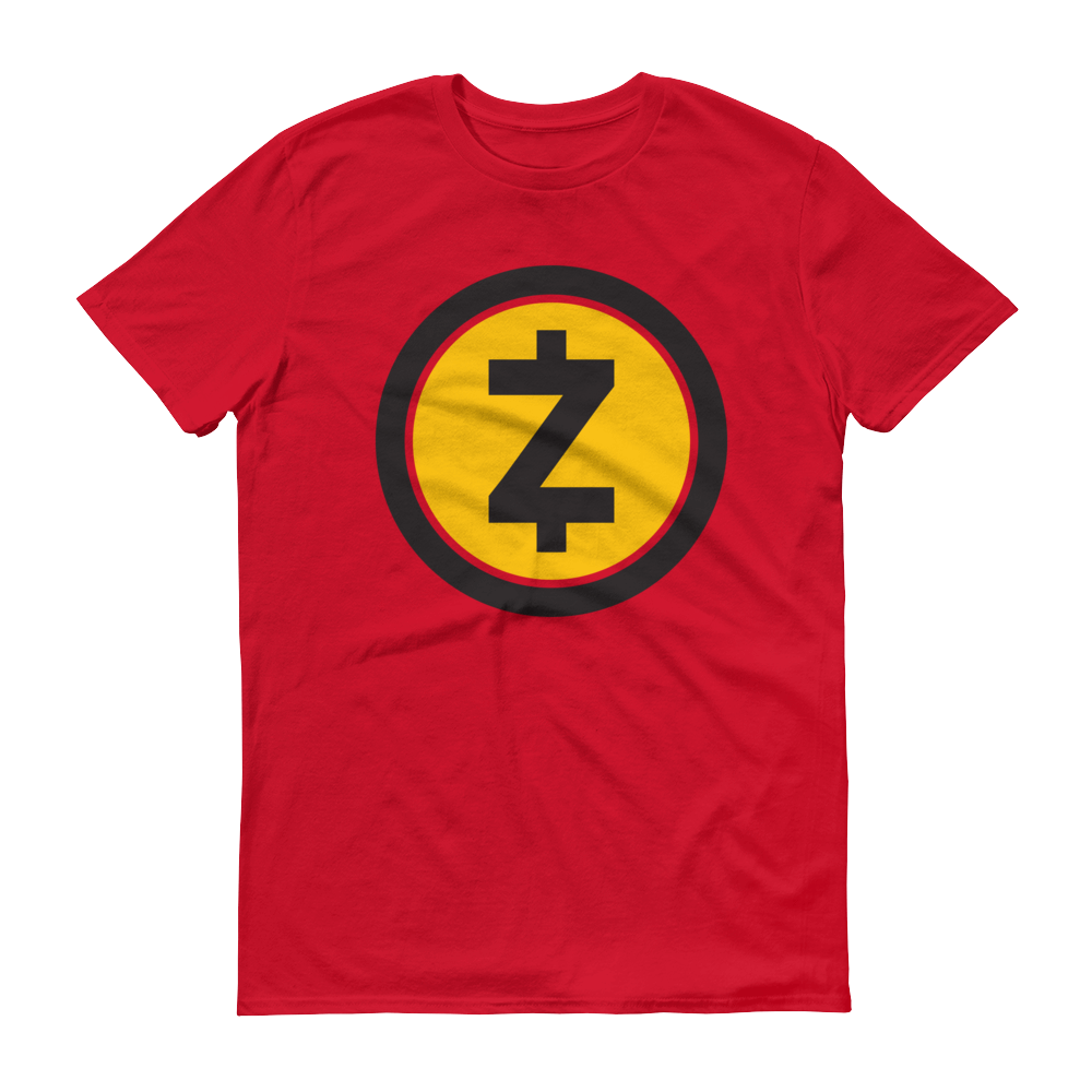 Zcash Short-Sleeve T-Shirt Red S - zeroconfs