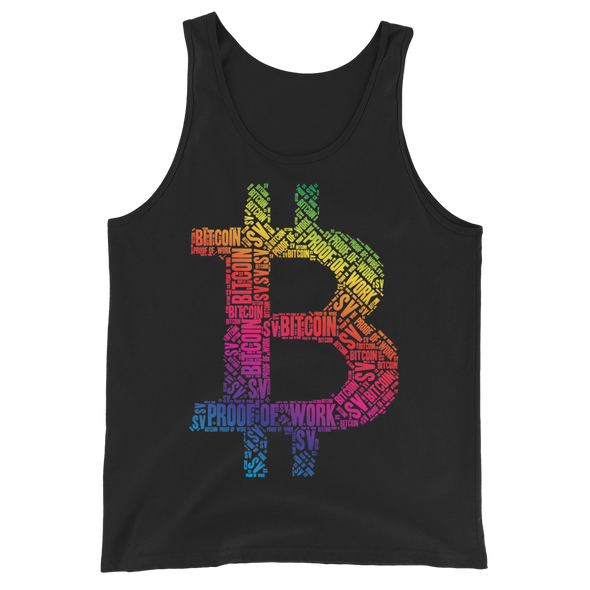 Bitcoin SV Proof Of Work Tank Top Black XS - zeroconfs