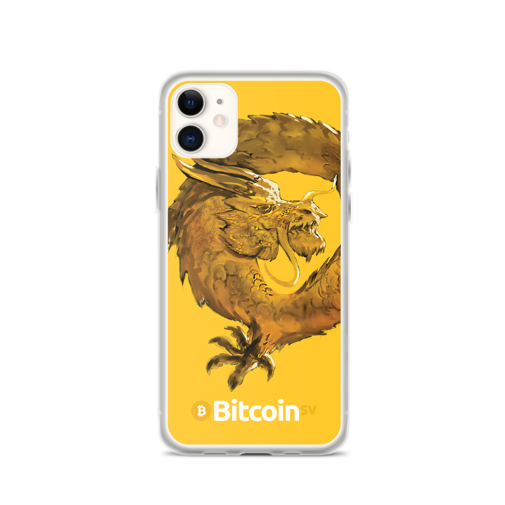Bitcoin SV Woken Dragon iPhone Case Yellow iPhone 11  - zeroconfs