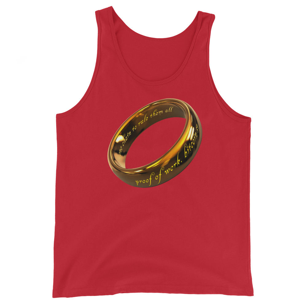 One Chain To Rule Them All Bitcoin SV Tank Top Red XS - zeroconfs