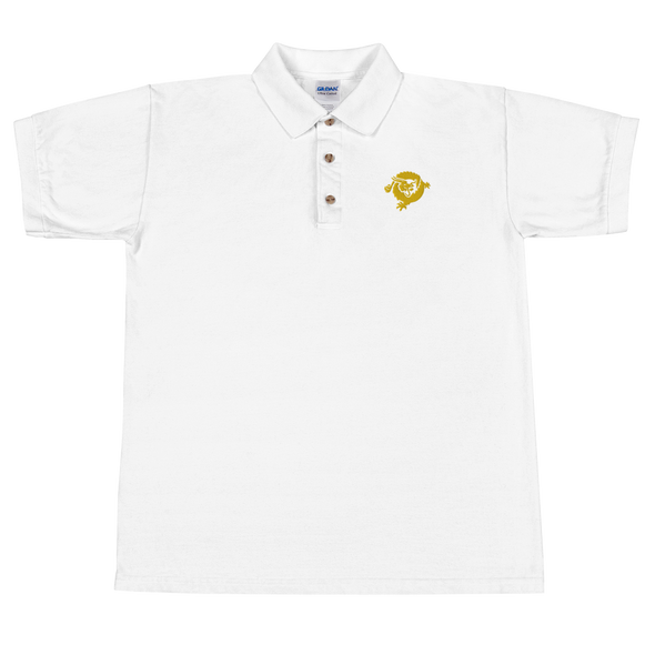 Bitcoin SV Dragon Embroidered Polo Shirt White S - zeroconfs