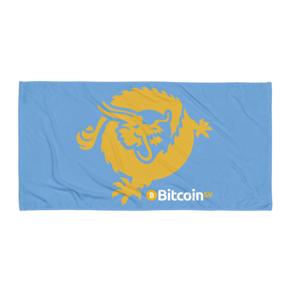 Bitcoin SV Dragon Beach Towel Blue Default Title  - zeroconfs