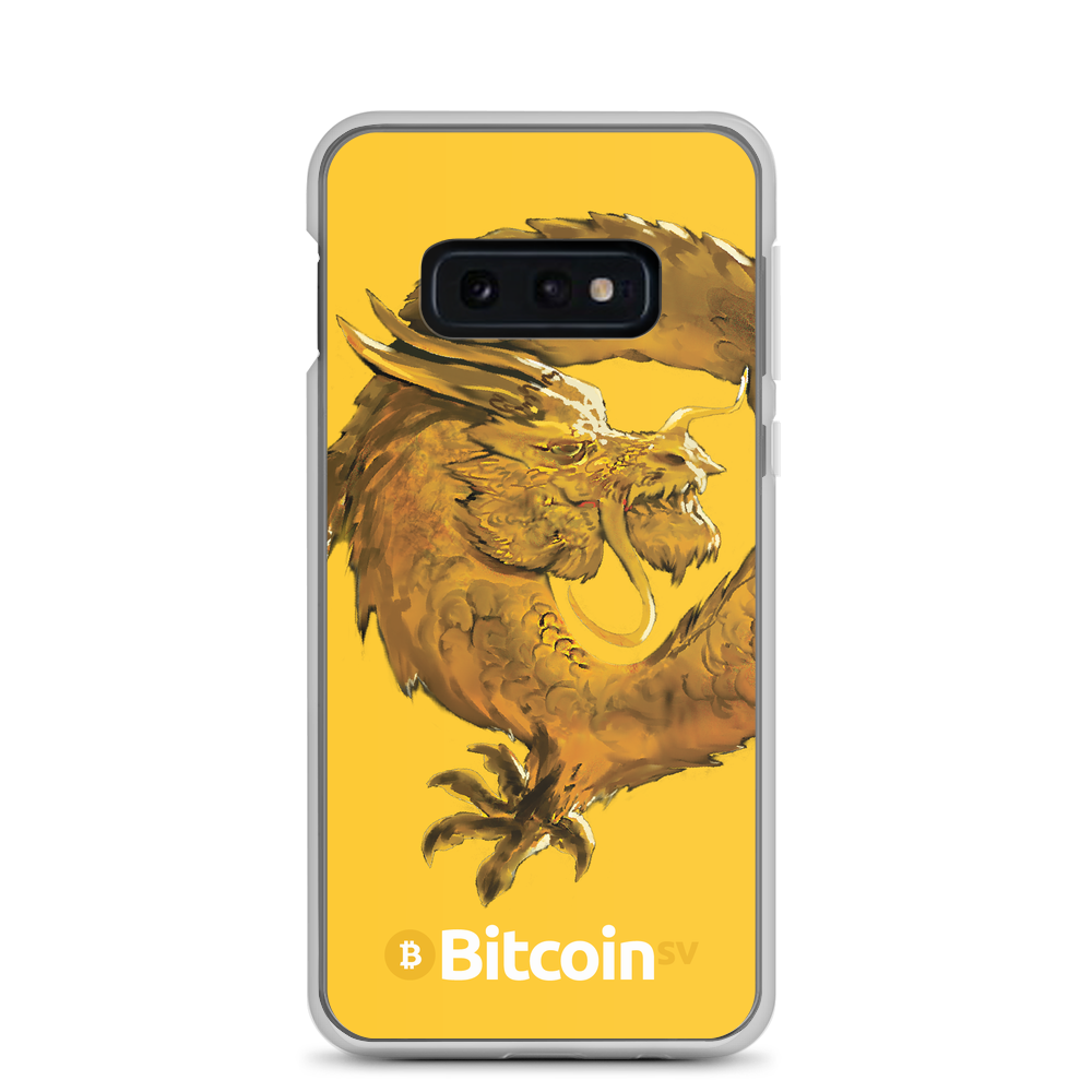 Bitcoin SV Woken Dragon Samsung Case Yellow Samsung Galaxy S10e  - zeroconfs