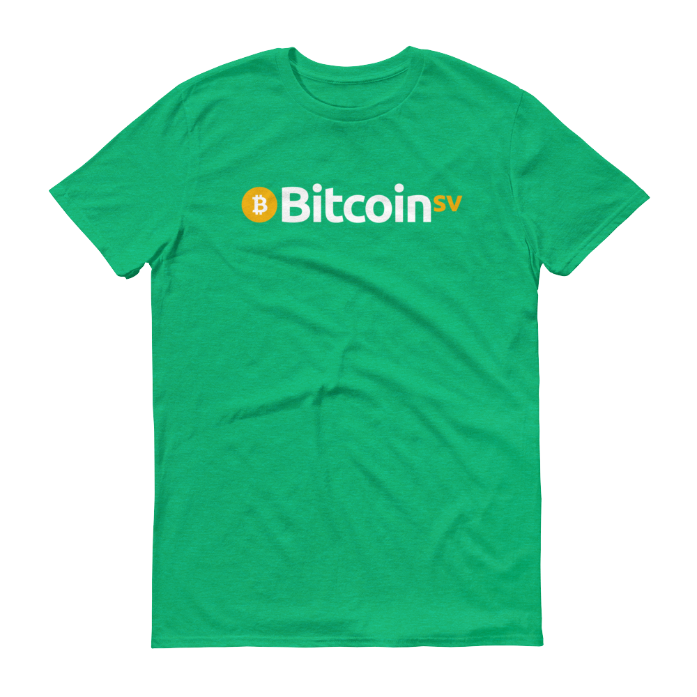 Bitcoin SV Short-Sleeve T-Shirt Heather Green S - zeroconfs
