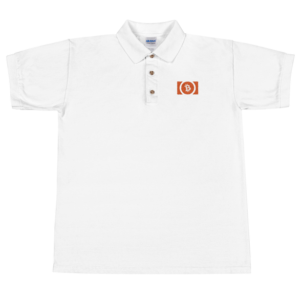 Bitcoin Cash Embroidered Polo Shirt White S - zeroconfs