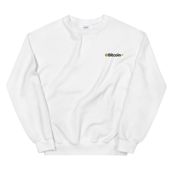 Bitcoin SV Embroidered Sweatshirt White S - zeroconfs