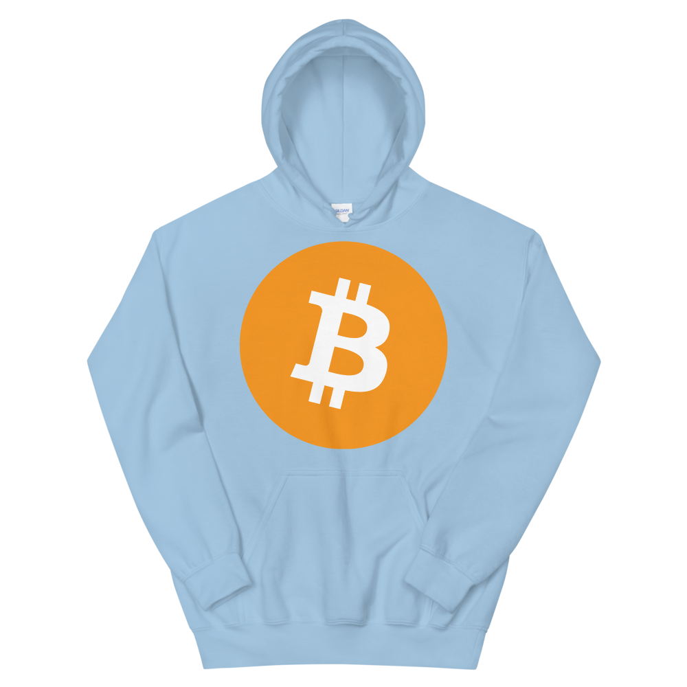 Bitcoin Core Hooded Sweatshirt Light Blue S - zeroconfs