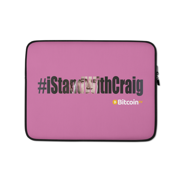 #IStandWithCraig Bitcoin SV Laptop Sleeve Pink 13 in  - zeroconfs