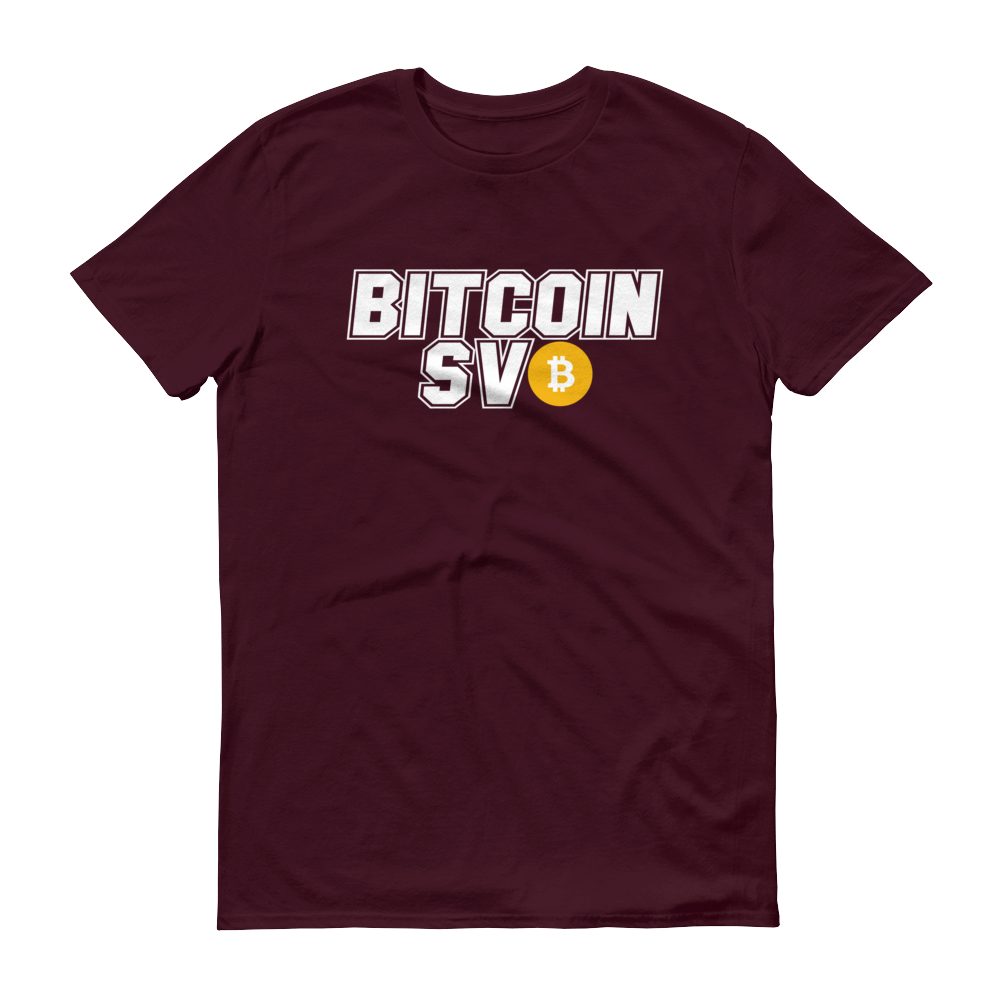 Bitcoin SV Sports Short-Sleeve T-Shirt Maroon S - zeroconfs