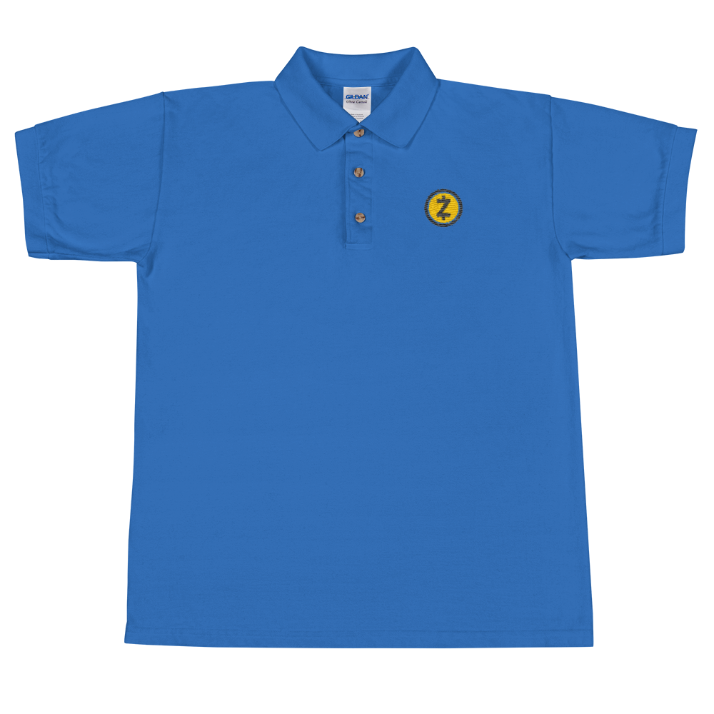 Zcash Embroidered Polo Shirt Royal S - zeroconfs