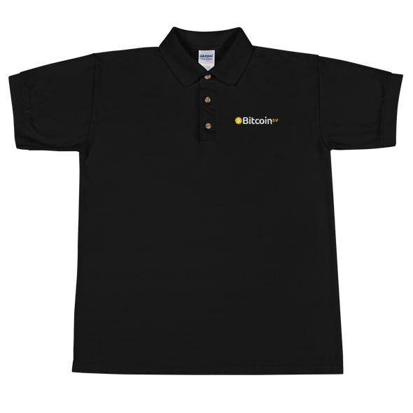 Bitcoin SV Embroidered Polo Shirt Black S - zeroconfs