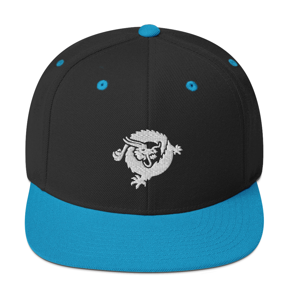 Bitcoin SV Dragon Snapback Hat White Black/ Teal  - zeroconfs