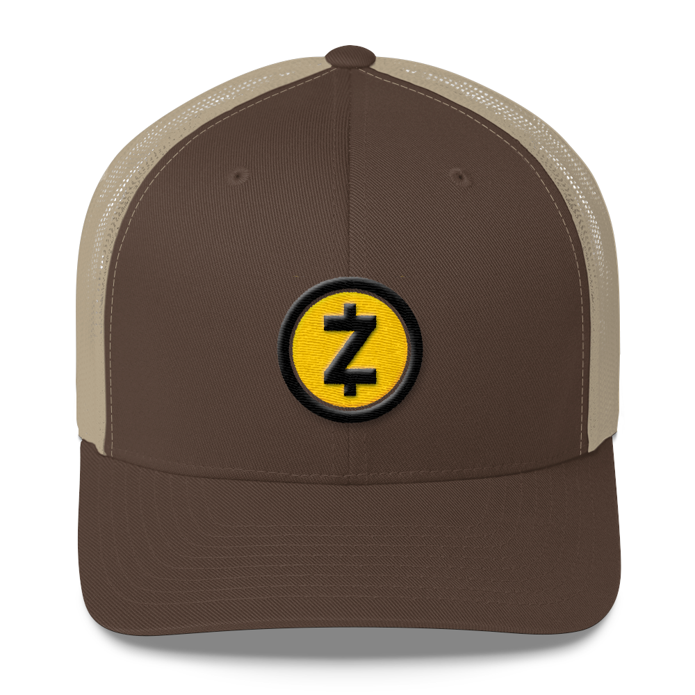 Zcash Trucker Cap Brown/ Khaki  - zeroconfs