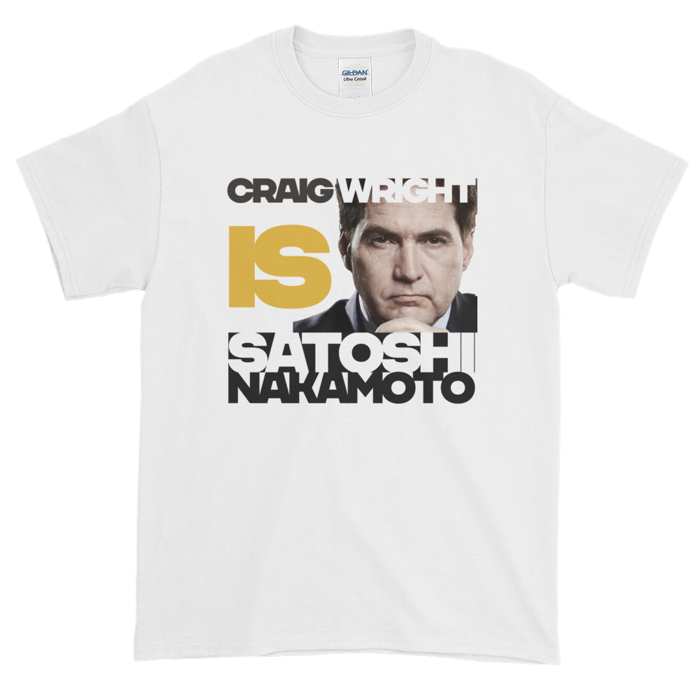 Craig Is Satoshi Short-Sleeve T-Shirt Plus Size White XL - zeroconfs