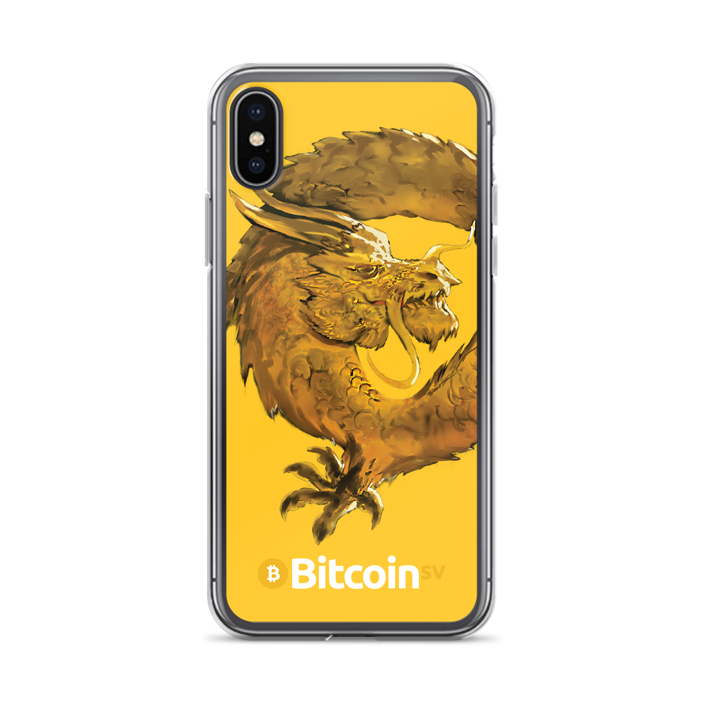 Bitcoin SV Woken Dragon iPhone Case Yellow iPhone X/XS  - zeroconfs