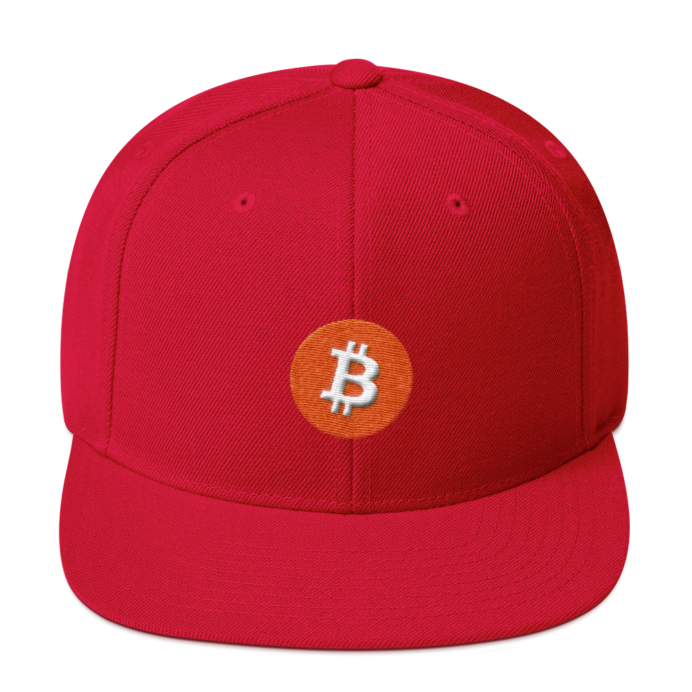 Bitcoin Core Snapback Hat Red  - zeroconfs