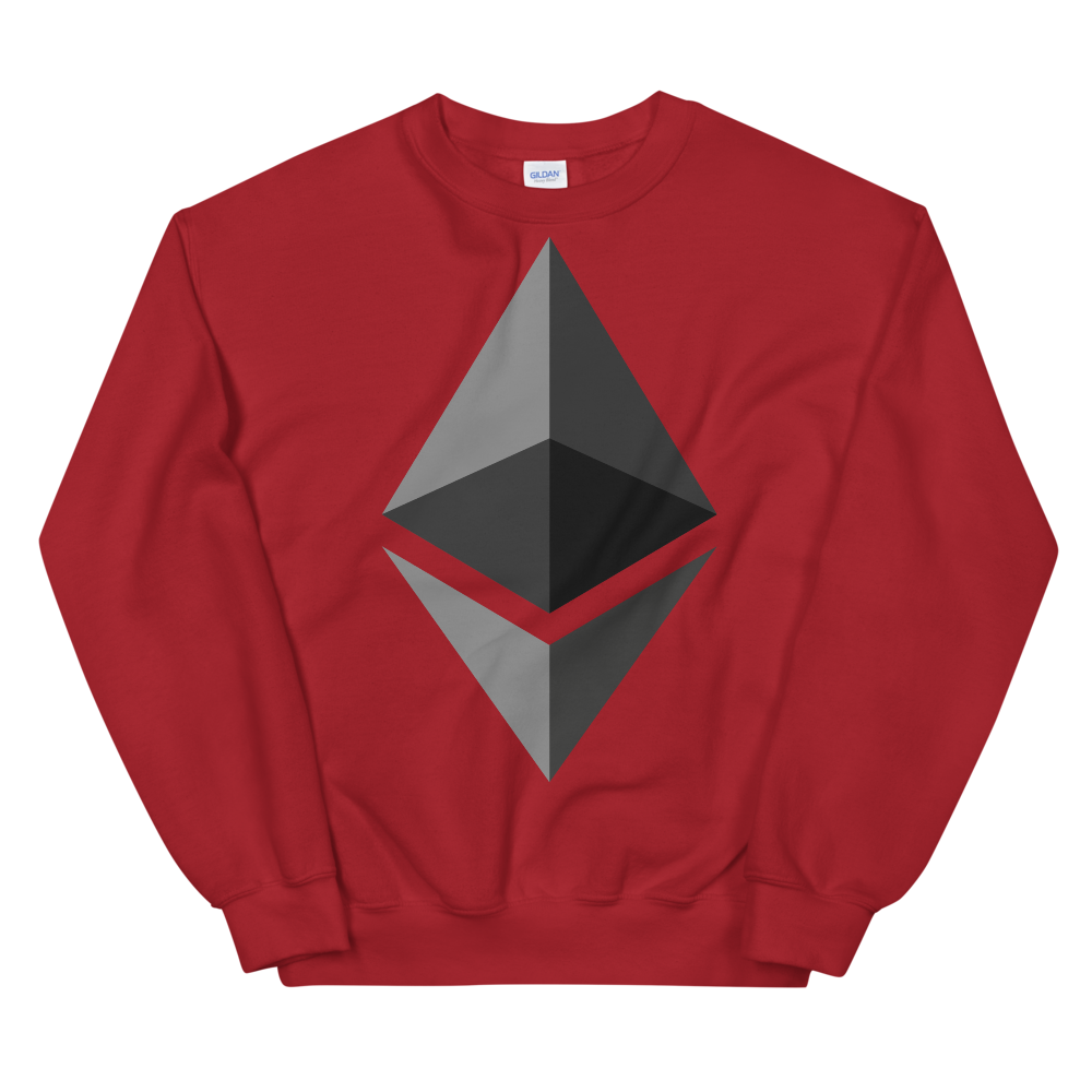 Ethereum Women's Sweatshirt Red S - zeroconfs