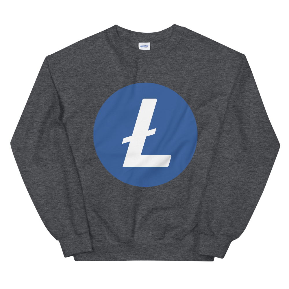 Litecoin Sweatshirt Dark Heather S - zeroconfs