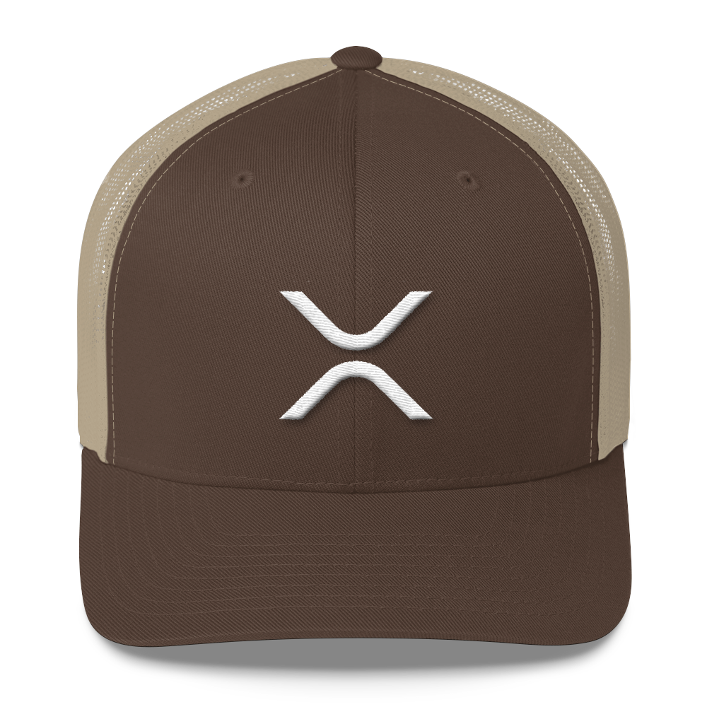 Ripple Trucker Cap Brown/ Khaki  - zeroconfs