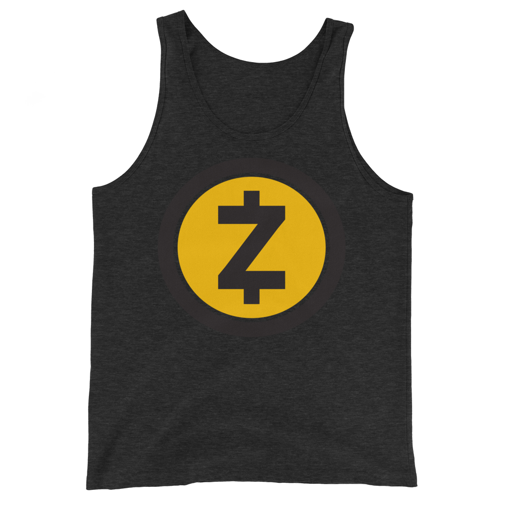 Zcash Tank Top Charcoal-Black Triblend XS - zeroconfs
