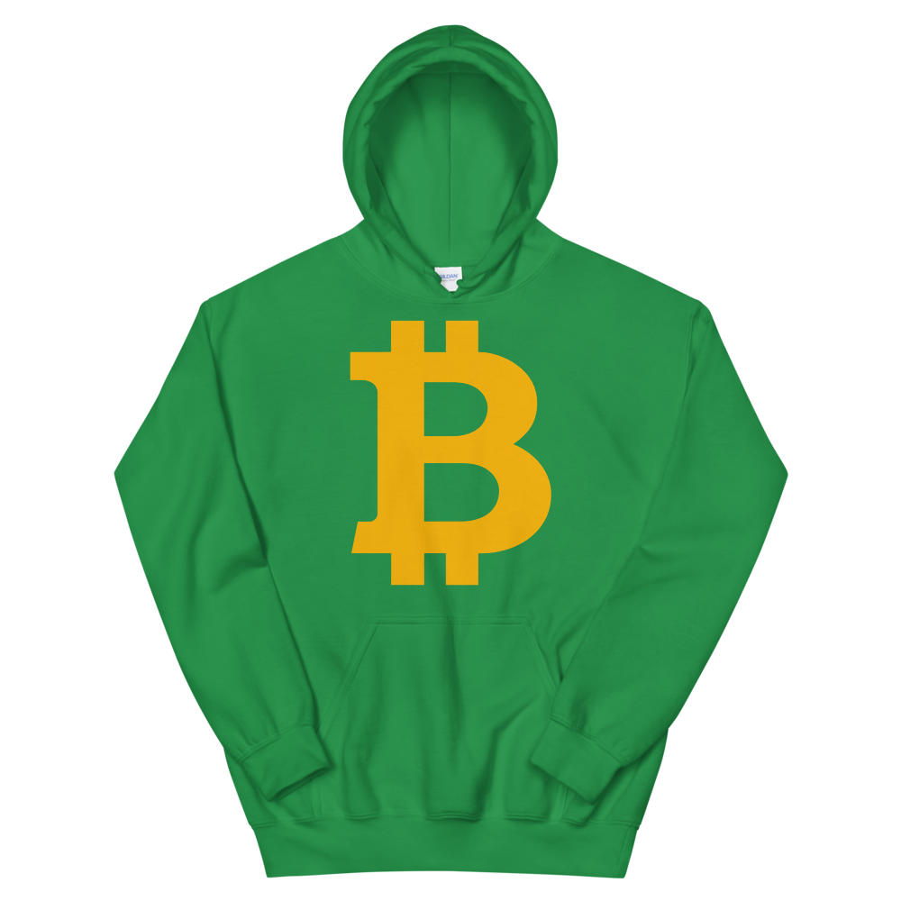 Bitcoin B Hooded Sweatshirt Irish Green S - zeroconfs