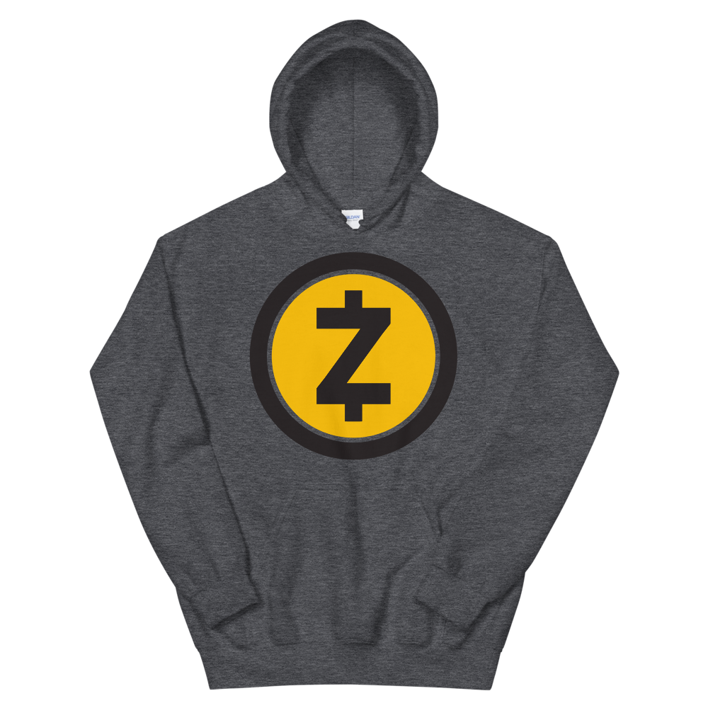 Zcash Hooded Sweatshirt Dark Heather S - zeroconfs