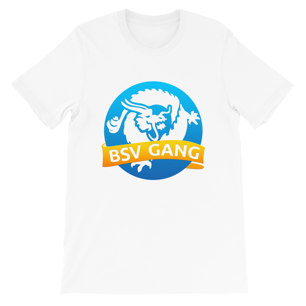 Bitcoin SV Gang Short-Sleeve T-Shirt White S - zeroconfs