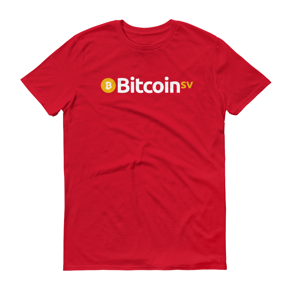 Bitcoin SV Short-Sleeve T-Shirt Red S - zeroconfs