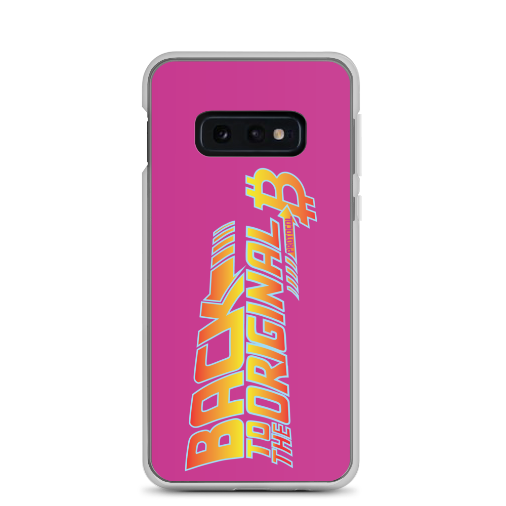 Back To The Original Bitcoin Protocol Samsung Case Pink Samsung Galaxy S10e  - zeroconfs